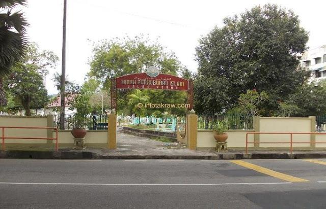 Muslimska kyrkogården i Jalan Perak Penang