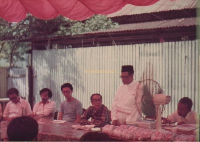 Hamid Mydin vid UMNO bolagsstämman session Patani Road Branch den 6 April 1980