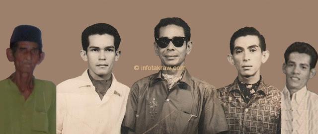 Hamid Mydin flanked children (first wife). Wan Mat, Wan Din, Pawanteh, Pawanchik
